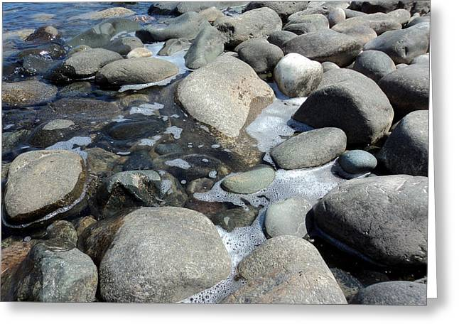 Water Photographs Greeting Cards - Sauble Pebbles Greeting Card by Merv Scoble