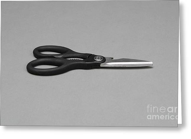 Common Item Greeting Cards - Scissors Greeting Card by Photo Researchers