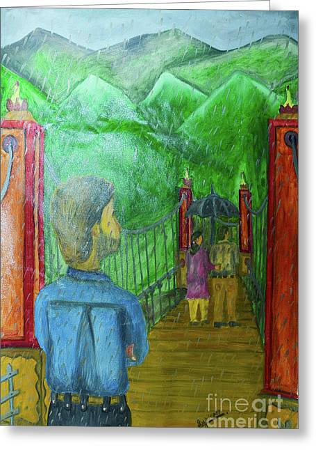 Separation Paintings Greeting Cards - Separation Greeting Card by Jiss Joseph
