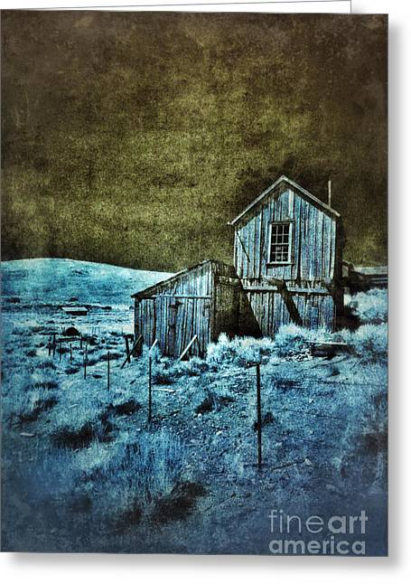 Shack Greeting Cards - Shack in Infrared Greeting Card by Jill Battaglia