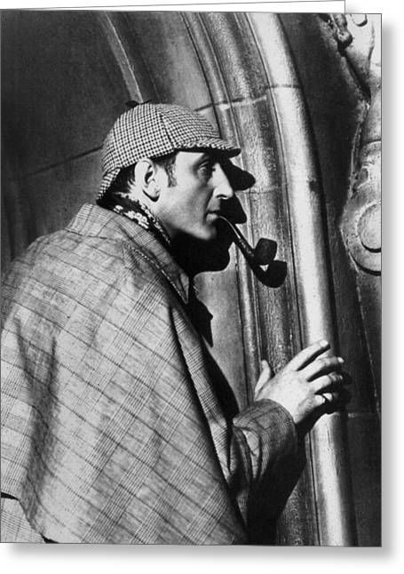 1939 Movies Greeting Cards - Sherlock Holmes Greeting Card by Granger