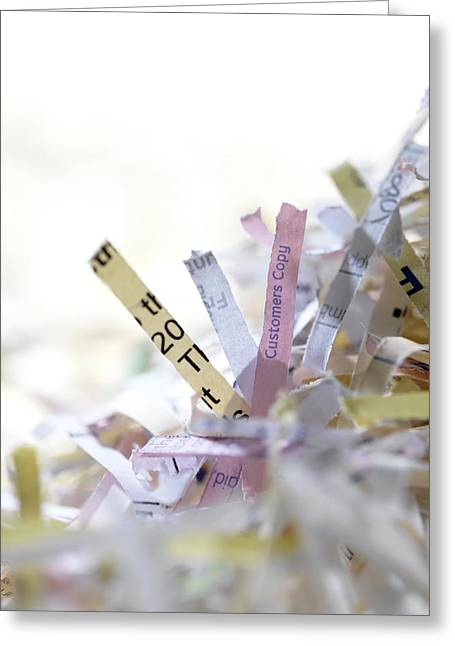 Shredded Paper Greeting Card by Tek Image