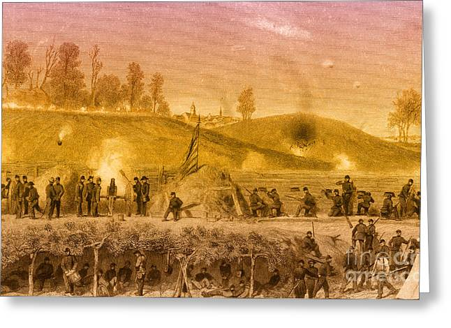 Vicksburg Greeting Cards - Siege Of Vicksburg, 1863 Greeting Card by Photo Researchers