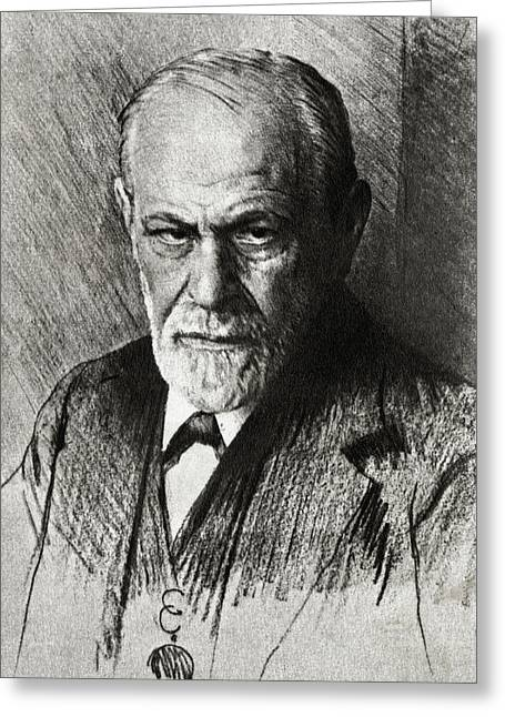 Subconscious Greeting Cards - Sigmund Freud, Austrian Psychologist Greeting Card by Humanities & Social Sciences Librarynew York Public Library