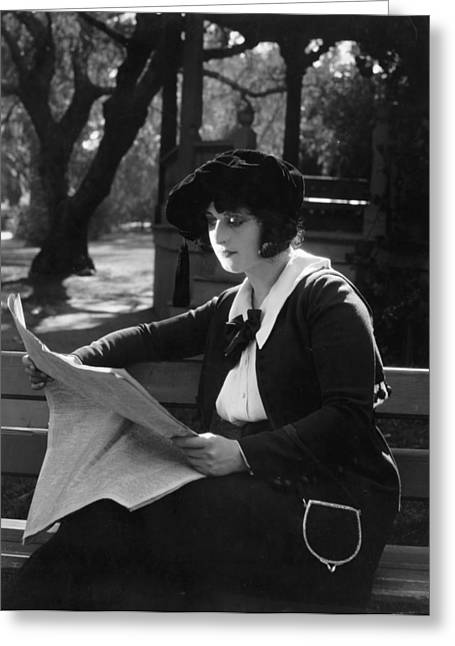Dangerous Talent Greeting Cards - Silent Film Still: Reading Greeting Card by Granger