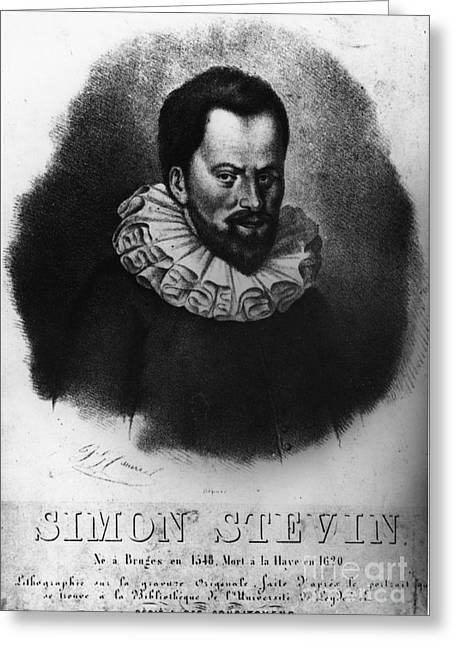 Bookkeeping Greeting Cards - Simon Stevin, Flemish Mathematician Greeting Card by Photo Researchers, Inc.