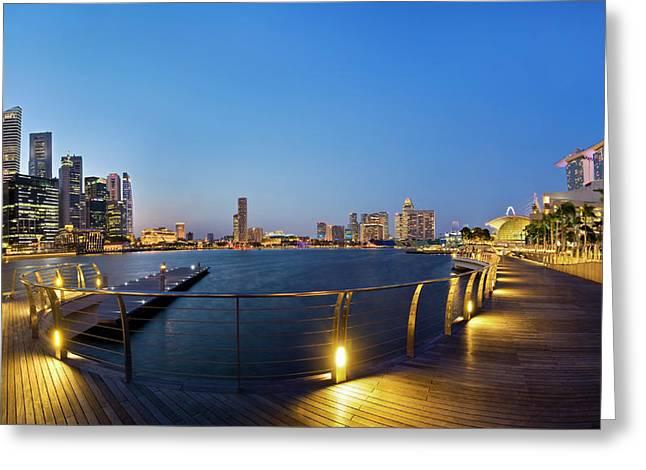 Swissotel Greeting Cards - Singapore - Marina Bay Greeting Card by Ng Hock How