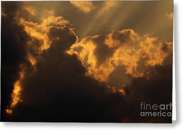 Sweating Photographs Greeting Cards - Sky Greeting Card by Odon Czintos