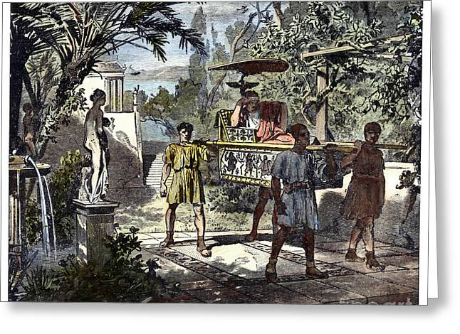 Patrician Greeting Cards - Slavery: Ancient Rome Greeting Card by Granger
