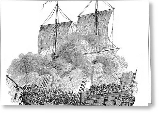 Slavery Ship Greeting Cards - Slavery: Slave Ship Greeting Card by Granger