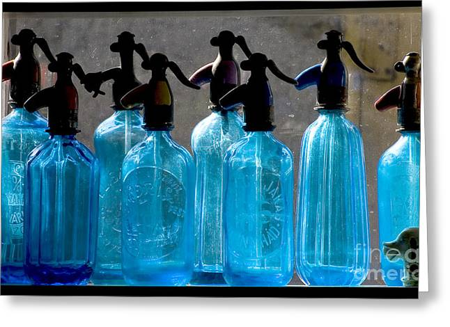 Soda Bottles Greeting Card by Odon Czintos