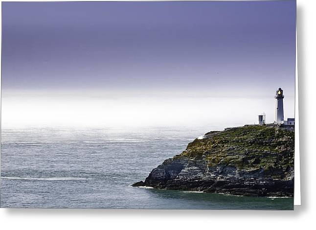 Ocean Art Photos Greeting Cards - South Stack Lighthouse Greeting Card by Gary Finnigan