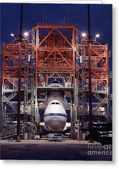 Atlantis Greeting Cards - Space Shuttle Atlantis Greeting Card by Nasa