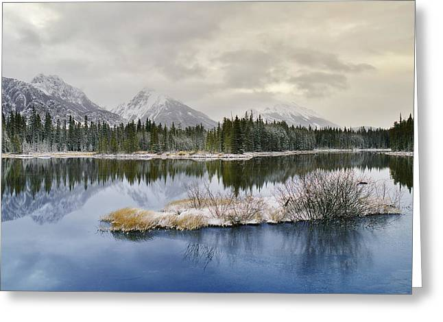 Spillway Lake And The Opal Range, Peter Greeting Card by Darwin Wiggett