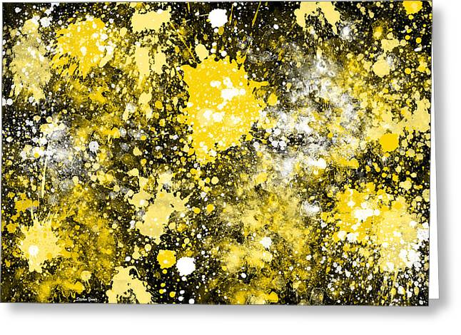 Dab Greeting Cards - Splatter Greeting Card by Stephen Younts
