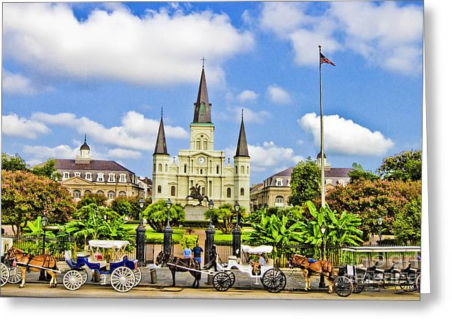 Historic Architecture Greeting Cards - St. Louis Cathedral Greeting Card by Scott Pellegrin