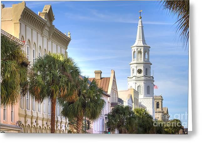 Charleston Sc Greeting Cards - St Michaels Church Charleston SC Greeting Card by Dustin K Ryan