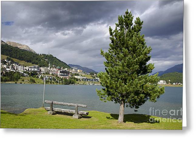 Moritz Greeting Cards - St Moritz in Switzerland Greeting Card by Mats Silvan