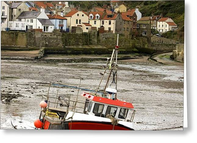 Staithes, North Yorkshire, England Greeting Card by John Short