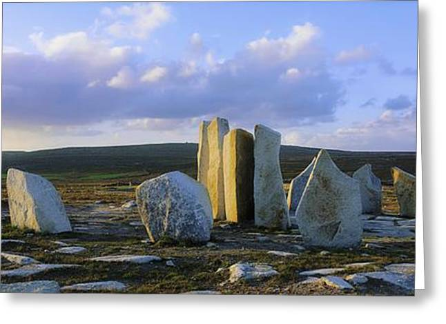 Collection Of Rocks Greeting Cards - Standing Stones, Blacksod Point, Co Greeting Card by The Irish Image Collection