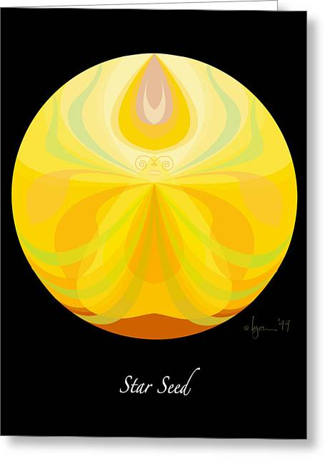 Survivor Art Greeting Cards - Star Seed Greeting Card by Angela Treat Lyon