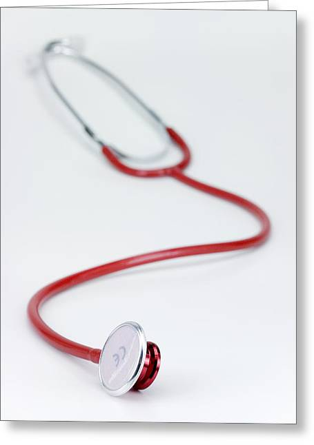 Stethoscope Greeting Card by Paul Rapson