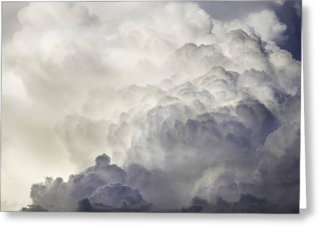 Skylights Greeting Cards - Storm Clouds and Thunder Heads Before Rain Storm Fine Art Print Greeting Card by Keith Webber Jr