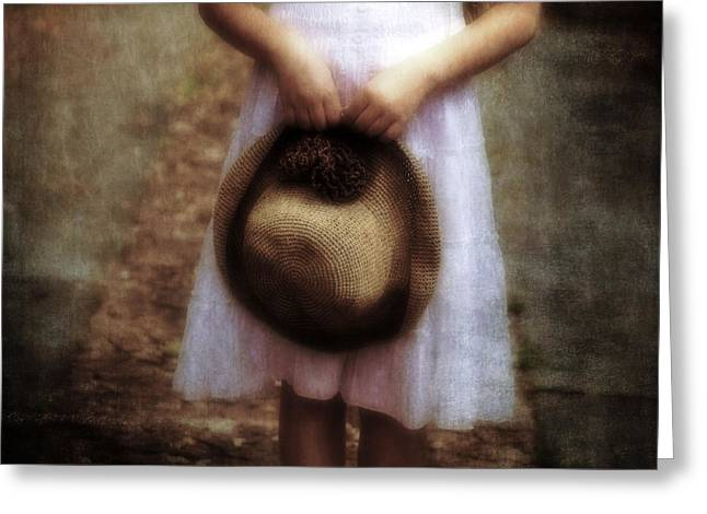 Sun Hat Greeting Cards - Straw Hat Greeting Card by Joana Kruse