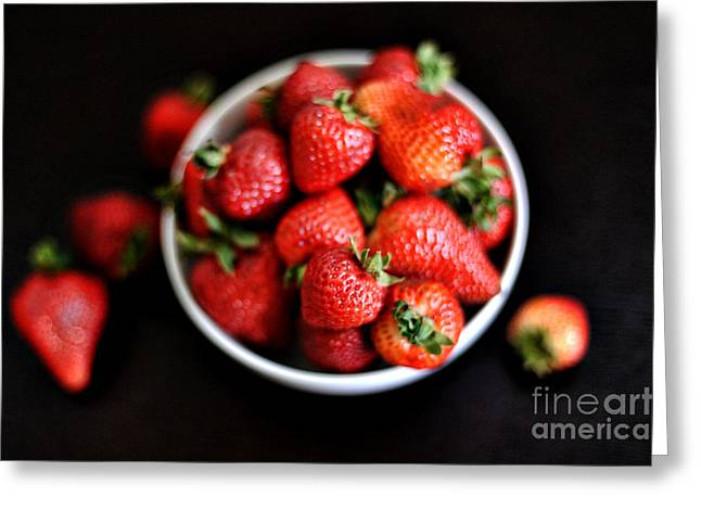 Black Berries Greeting Cards - Strawberries Greeting Card by HD Connelly