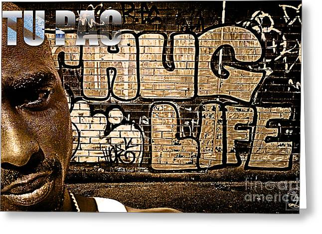 Thug Greeting Cards - Street Phenomenon 2Pac Greeting Card by The DigArtisT