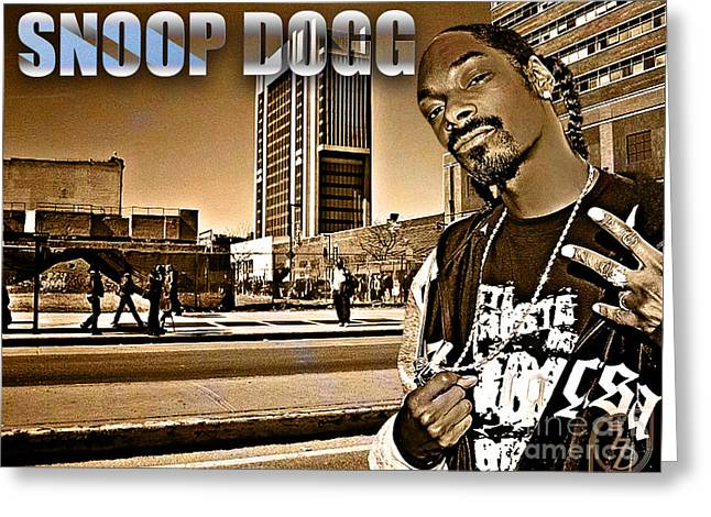 Shady Street Greeting Cards - Street Phenomenon Snoop Dogg Greeting Card by The DigArtisT
