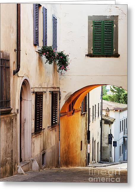 Chianti Greeting Cards - Street Scene Greeting Card by Jeremy Woodhouse