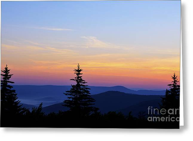 Summer Solstice Sunrise Greeting Card by Thomas R Fletcher