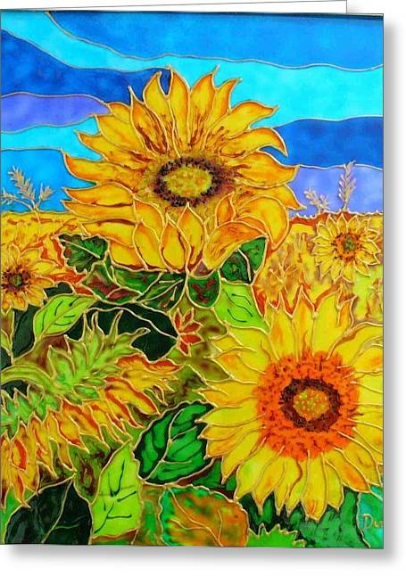 Sun Glass Greeting Cards - Sun Flower Greeting Card by Danuta Duminica