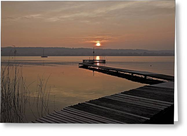 Lago Greeting Cards - sunset at the Lake Maggiore Greeting Card by Joana Kruse