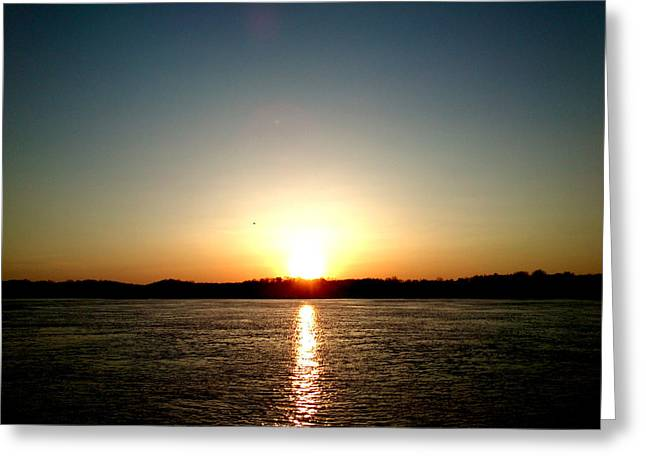 Sunset Greeting Card by Lucy D
