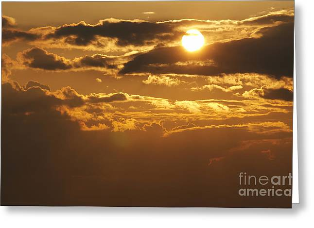 Recently Sold -  - Gloaming Greeting Cards - Sunset Greeting Card by Michal Boubin