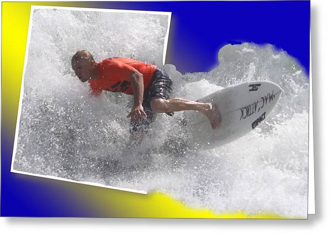 Surfer  Greeting Card by Jeanne Andrews