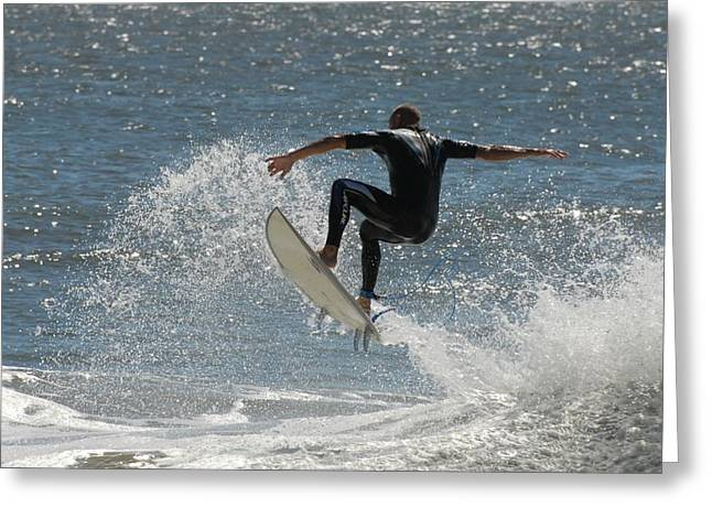 Take Over Greeting Cards - Surfing 415 Greeting Card by Joyce StJames