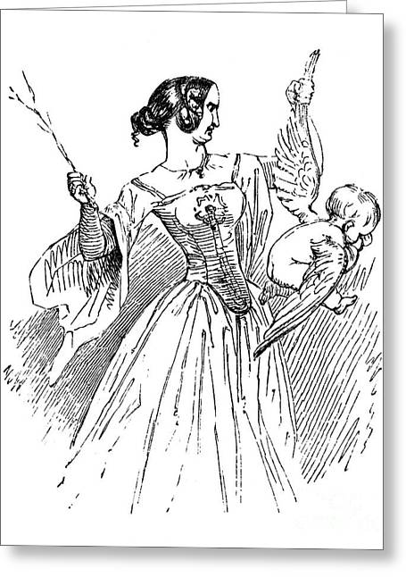 Spanking Greeting Cards - Taming Of The Shrew Greeting Card by Granger