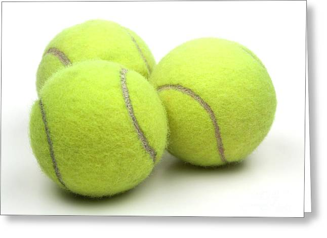 Slam Greeting Cards - Tennis balls Greeting Card by Blink Images