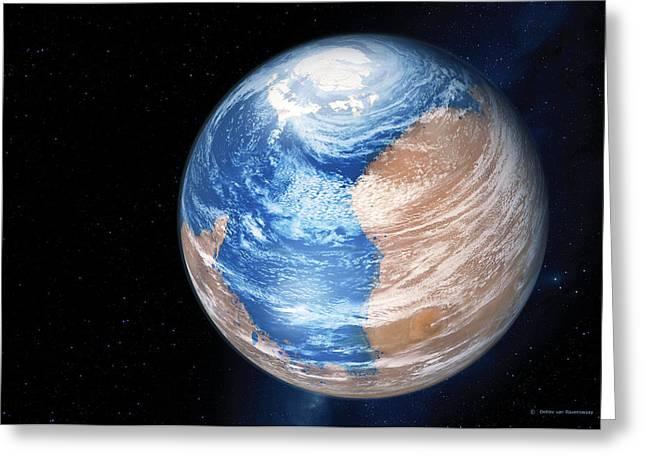 Colonisation Greeting Cards - Terraforming Mars, Computer Artwork Greeting Card by Detlev Van Ravenswaay