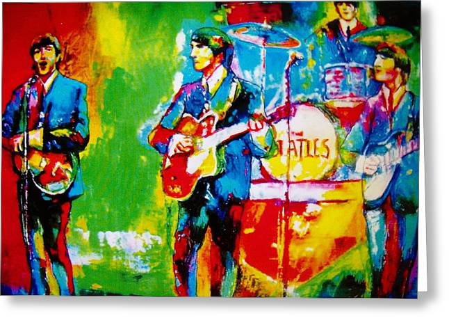 The Beatles Greeting Card by Leland Castro