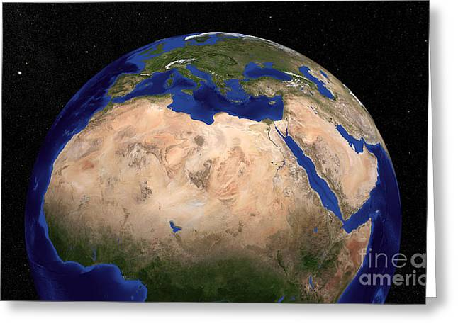 The Blue Marble Next Generation Earth Greeting Card by Stocktrek Images