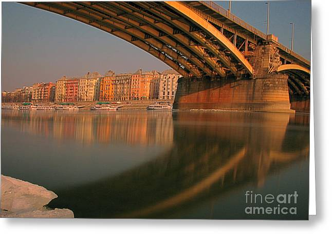 Sweating Photographs Greeting Cards - The bridge Greeting Card by Odon Czintos