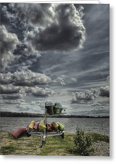 Canoe Photographs Greeting Cards - The Canoe Rental Greeting Card by Heather  Rivet