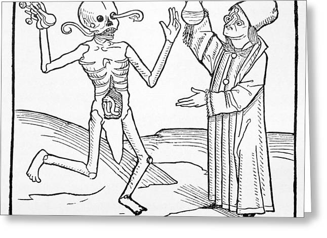 Satire Prints Greeting Cards - The Dance Of Death, Allegorical Artwork Greeting Card by