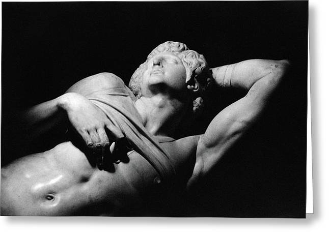 Nudes Sculptures Greeting Cards - The Dying Slave Greeting Card by Michelangelo Buonarroti