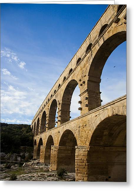 The Famous Pont Du Gare In France Greeting Card by Taylor S. Kennedy