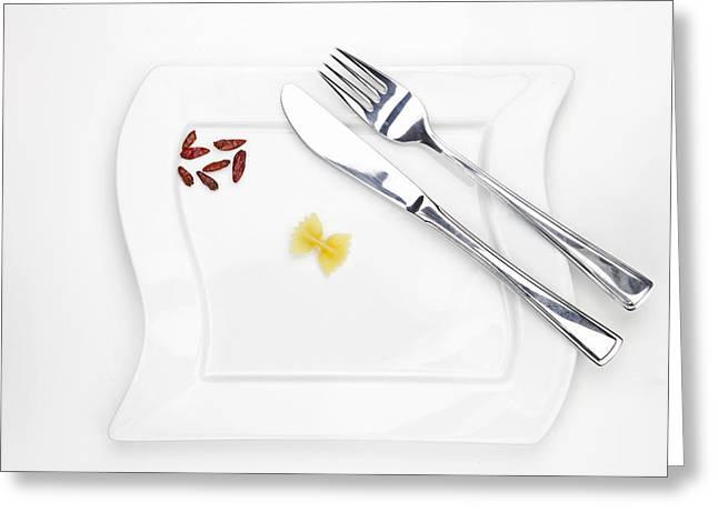 Culinary Greeting Cards - The Farfalla Greeting Card by Joana Kruse